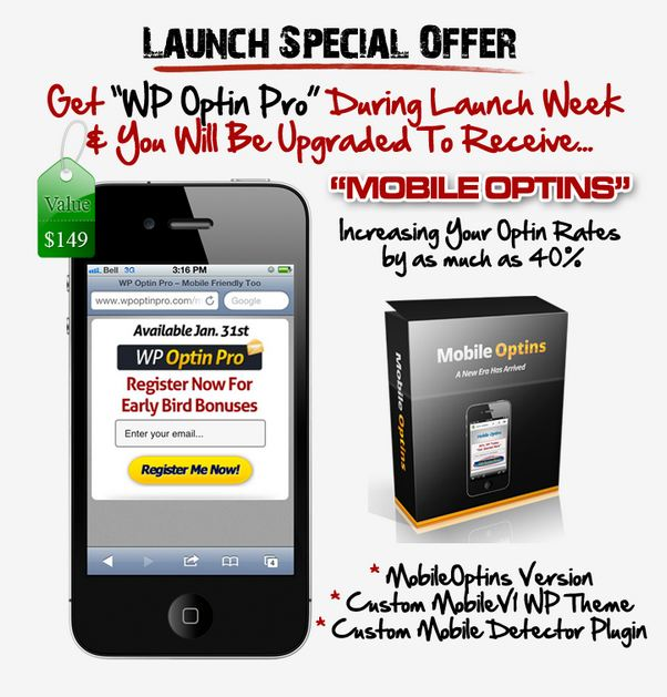 Get Mobile Optin As A Bonus